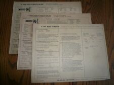 1969 Dodge Plymouth Vaiant Sun Electric Tune-Up System Air Cleaner 3 Charts
