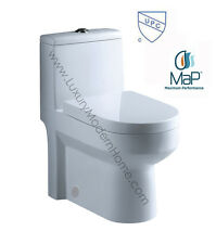 "24"" 24 inch Toilet ADULT SMALL compact short tiny modern bathroom dual flush UPC"