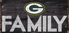 """Green Bay Packers FAMILY Football Wood Sign - NEW 12"""" x 6""""  Decoration Gift"""