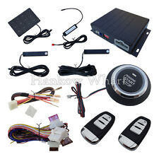 Smart Car PKE Alarm System W Remote Start Push Button & Password Entry Backup