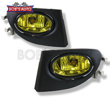 2002-2005 Honda Civic EP3 JDM Golden Yellow Bumper Fog Lights Driving Lamps L+R