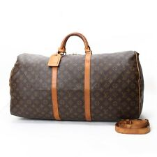 Auth Louis Vuitton Keepall Bandouliere 60 Monogram Travel Bag Hand Bag 10100809