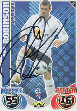 BOLTON HAND SIGNED PAUL ROBINSON 10/11 MATCH ATTAX CARD.