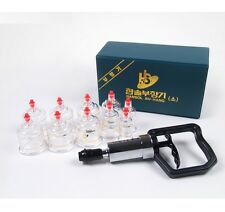 HANSOL - NEW Genuine 10PCS Cups Massage Professional Cupping Vacuum Therapy SET