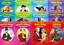 EASY READER SCHOLASTIC BIOGRAPHIES 12 pk Washington,Lincoln,Appleseed,Keller NEW