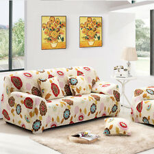 3Seater L Shape Stretch Elastic Sofa Cover Couch Slipcover Flower Pattern#10