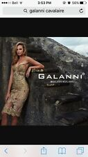 Galanni Cavalaire DressAU6New Gold Lace,Sequins,Beading, prom Engagement,wedding