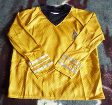 Official Deluxe Gold Star Trek Shirt With Pants Captain Kirk (Kids Size L 12-14)