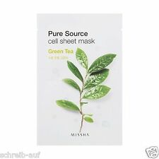 3x MISSHA Pure Source Cell Sheet Mask (Green Tea)