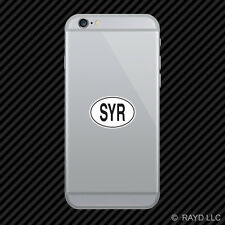 SYR Syria Country Code Oval Cell Phone Sticker Mobile Syrian euro