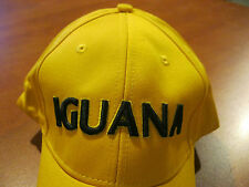 IGUANA GOLF PRODUCTS ADULT MENS YELLOW BASEBALL ADJUSTABLE SLOUCH HAT CAP NEW