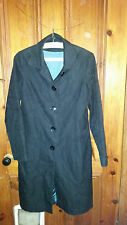 LADIES  VINTAGE  RETRO ? BLACK NEXT COAT SIZE 10 WITH PATTERN