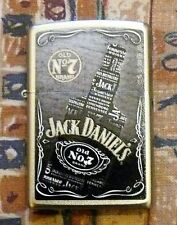 ALCOHOL JACK DANIELS BOTTLE ZIPPO LIGHTER FREE P&P FREE FLINTS