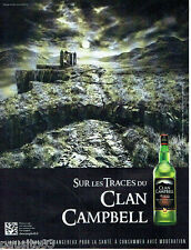 PUBLICITE ADVERTISING 086  2012  sur les traces  clan Campbell  whisky écosse 2