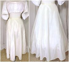 1910s Ivory Taffeta Full Walking Skirt Underskirt