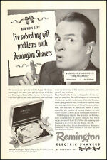 1948 vintage AD REMINGTON ELECTRIC SHAVERS w/ BOB HOPE in Paleface 031816