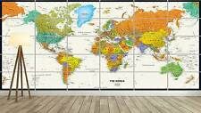 WORLD MAP CARTE DU MONDE  XXL Poster Home Deco Salon 252cmX150