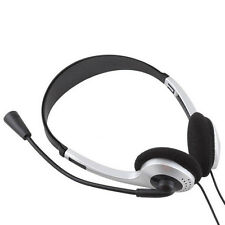 Stereo Headphone Headset Earphone with Mic for PC Laptop Computer Universal New