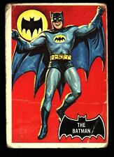 1966 TOPPS BATMAN BLACK BAT CARD #1 POOR