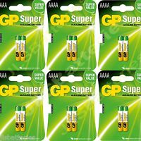 12x AAAA GP SUPER Batteries MN2500 1.5V E96 LR8D425 Alkaline battery 6 X 2 packs