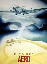 ART PRINT POSTER TRAVEL AEROPLANE AIRFIELD CLOUD FINLAND NOFL1292