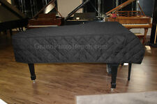 "Yamaha Grand Piano Cover C1 5'3"" - QUILTED BLACK MACKINTOSH - Heavy Duty"