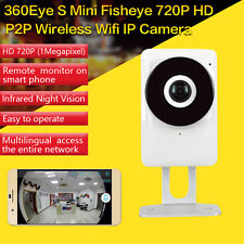 185 degree Wireless Fisheye IP Camera Full HD 720P P2P WIFI CCTV Network Indoor