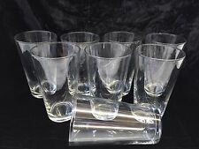 16 Oz Clear Glass Tumblers Set 0f 8