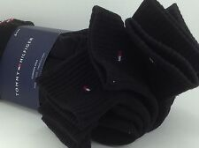 Men's TOMMY HILFIGER Black Quarter Cut Crew Socks - 6 Pack - $36 MSRP - 25%