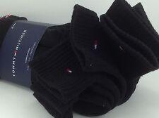 Men's TOMMY HILFIGER Black Quarter Cut Crew Socks - 6 Pack - $36 MSRP - 25%