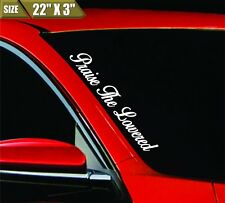 Praise The Lowered Windshield Banner Vinyl Decal Bumper Sticker JDM  For Honda