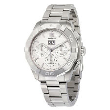 Tag Heuer Aquaracer Automatic Chronograph Silver Dial Stainless Steel Mens