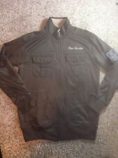 Ecko Unlimited Mens Medium Full Zip Jacket Logo Brown Ked