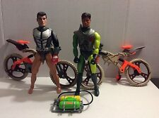 MAX STEEL,ACTION MAN FIGURES WITH BIKES* MATTEL & HASBRO *