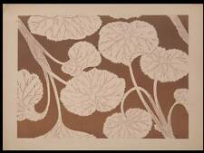 MOTIF DE DECOR - 1888 - JAPON, ESTAMPE, FEUILLAGE MALVACEES