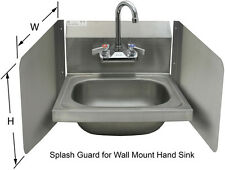 """Wall Mount S/S Splash Guard 17""""x12"""" for Hand Sink SP-S1712"""