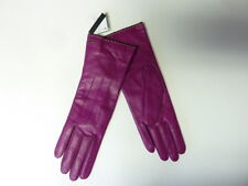 $98 COACH Women's Cashmere Lined Leather Basic 6.5 fuchsia pink gloves 83875