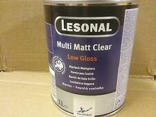 Lesonal 2K Matt Clear Lacquer  1 litre  Low Gloss Clearcoat    Akzo