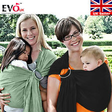 Baby Ring Sling Carrier Pouch Wrap Newborn to Toddler 100%Cotton In  Black