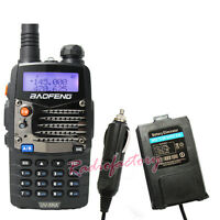 BaoFeng Dual band UV-5RA VHF&UHF Radio FM 65-108MHZ UV-5R  With Car Charger