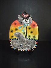 Fitz & Floyd Canape Tray Halloween Kitty Witches Cat Spiders