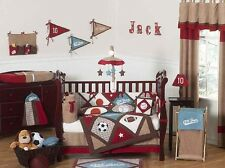 LUXURY ALL STAR SPORTS THEMED BOYS BABY BEDDING 9pc CRIB SET SWEET JOJO DESIGNS