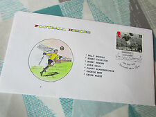 British FOOTBALL Heroes  Jackie MILBURN  Post Mark First Day Cover / FDC