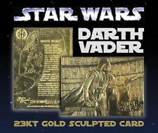 DARTH VADER STAR WARS 23KT GOLD CARD *$40 Book Value*