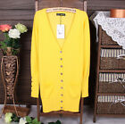 Hot Color Classical Women Long Sleeve V-neck Cardigan Sweater