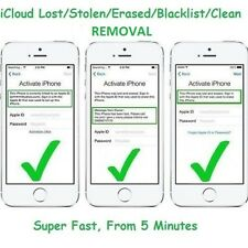 ICLOUD REMOVAL for iPhone all models and carriers with owner's info