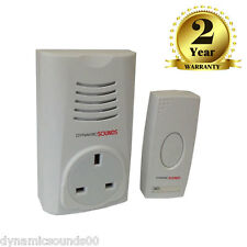Wireless Cordless Plug in Through DoorBell Door Bell Chime Ringer 16 Melodies