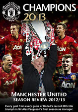 MANCHESTER UNITED CHAMPIONS 2012 / 13 - SEASON REVIEW - DVD - REGION 2 UK