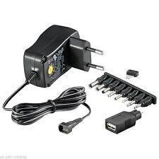 Universal Netzteil AC/DC Eco-Friendly 3V 4,5V 5V 6V 7,5V 9V 12V 600mA