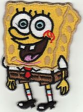 Iron on Patch Embroidered Application Spongebob Cartoon Animation Big Size -a4n8